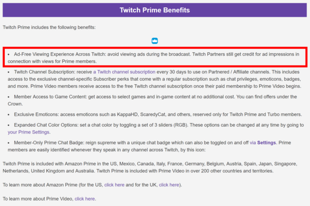 Twitch Prime benefits are being cut as well