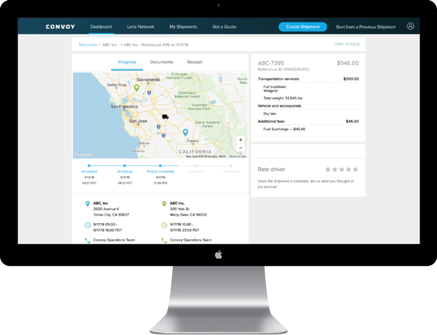 Trucking startup Convoy reaches $1B valuation after huge