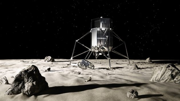 ispace lunar lander and rover