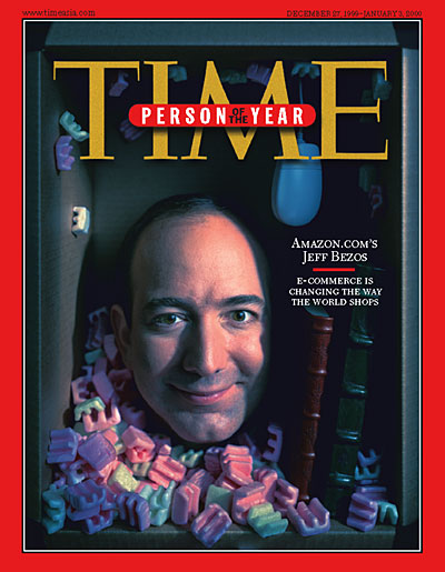 Amazon's Bezos on a 1999 Time cover