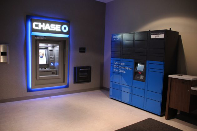 Spotted: Rare blue Amazon locker inside Chase Bank signals tech