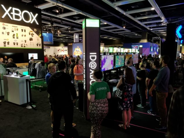 Near-empty ID@XBOX booth at PAX West 2018
