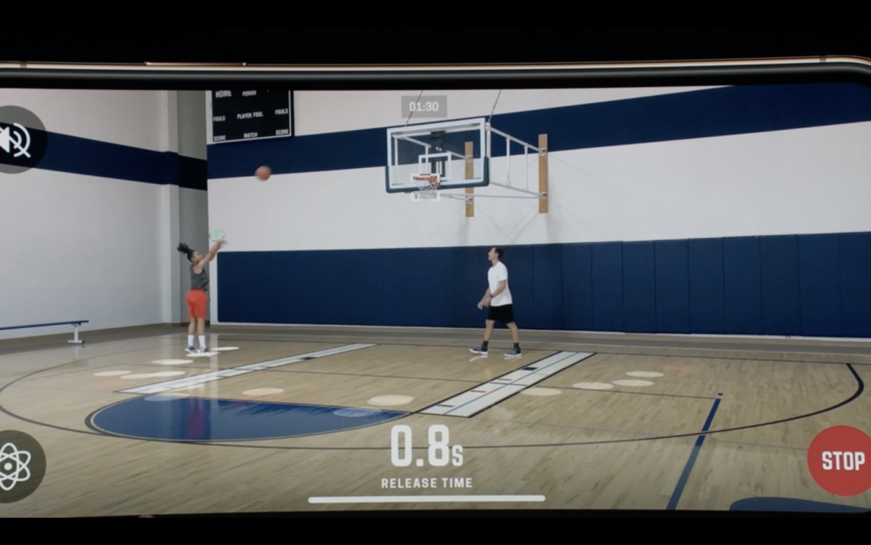 bae5b5711e6 A startup wants to help basketball players improve their jump shot — with  just a smartphone. Among the flurry of announcements made at its press  event on ...