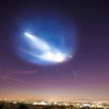 SpaceX rocket contrail over L.A.