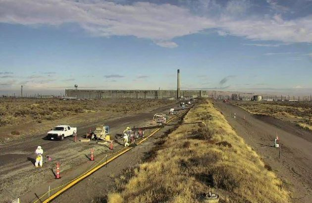 Workers at nuclear waste treatment plant told to take cover as precaution