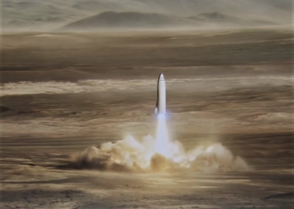 who u2019ll get to mars first  oddsmakers favor spacex and blue