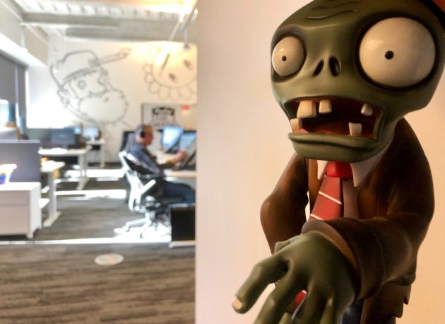 A Plants Vs Zombies Figure Is Seen In The New Offices Of Electronic Arts And PopCap Downtown Seattle GeekWire Photo Kurt Schlosser