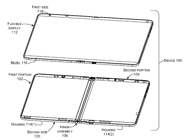 Patent filings reveal new details about Microsoft's vision for a foldable, dual-screen Surface device