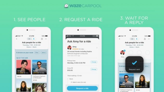 Waze launches carpool service at 50 Amazon warehouses as part of