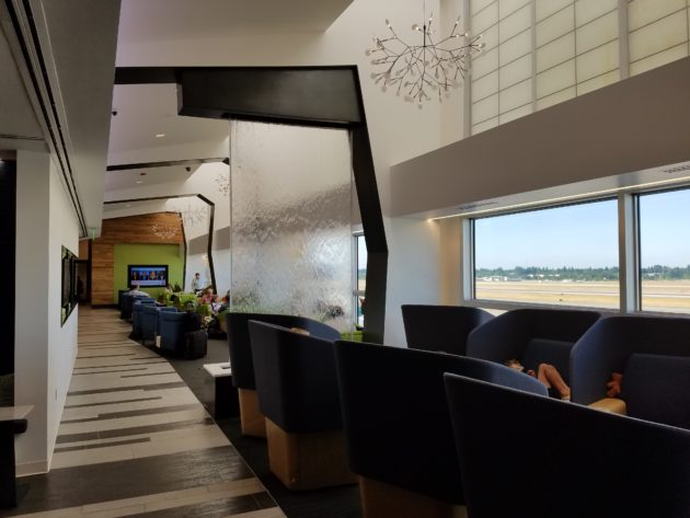 the alaska lounge at seatac airport concourse c geekwire photo frank catalano