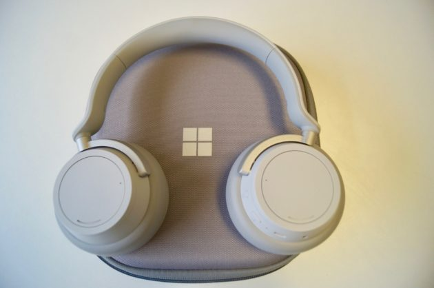 bb2fd00c7f9 Microsoft's Surface headphones and their carrying case. (GeekWire Photo /  Nat Levy)