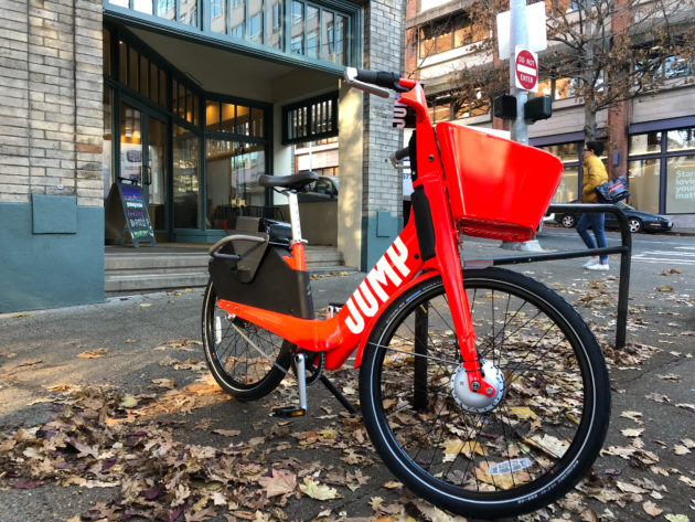 Uber launches dockless bikeshare in Seattle, rolling out