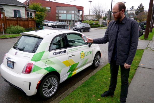 We tested Lime's new car-sharing service, LimePod, that will take on