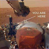 Mars InSight view of lander deck