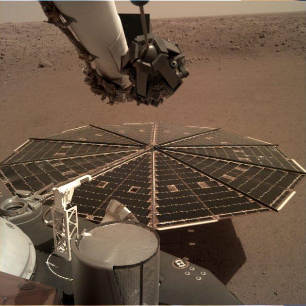 Mars InSight lander's solar panel