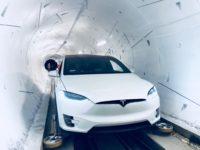Tesla in Boring Company tunnel