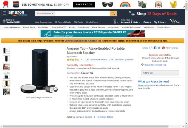 Taps for Amazon Tap? Groundbreaking portable Alexa speaker