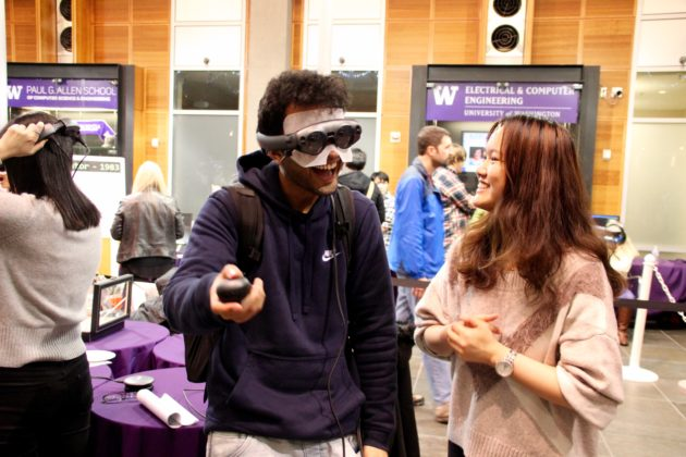 24975d75ee54 UW computer science students showed off their VR and AR applications on  Thursday at the Paul G. Allen School of Computer Science and Engineering.