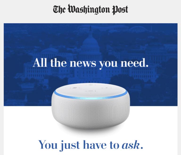 Amazon converting Prime members into Washington Post digital