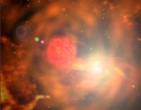 Red giant and white dwarf