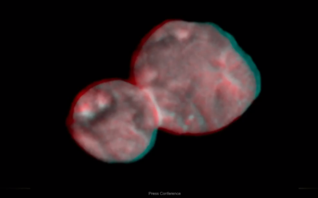 3-D view of Ultima Thule