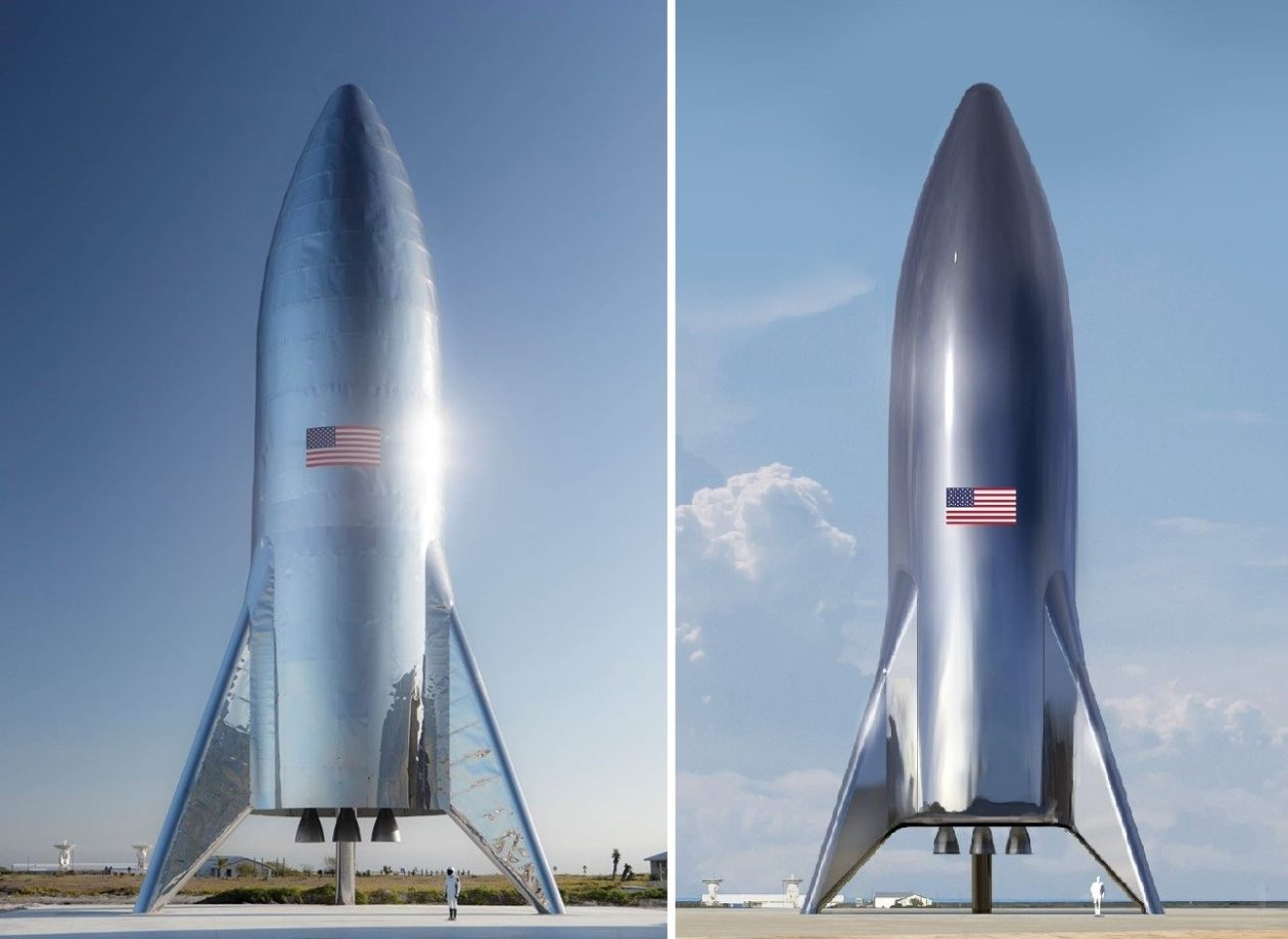 Elon Musk Says SpaceX Has Assembled Shiny Starship Test