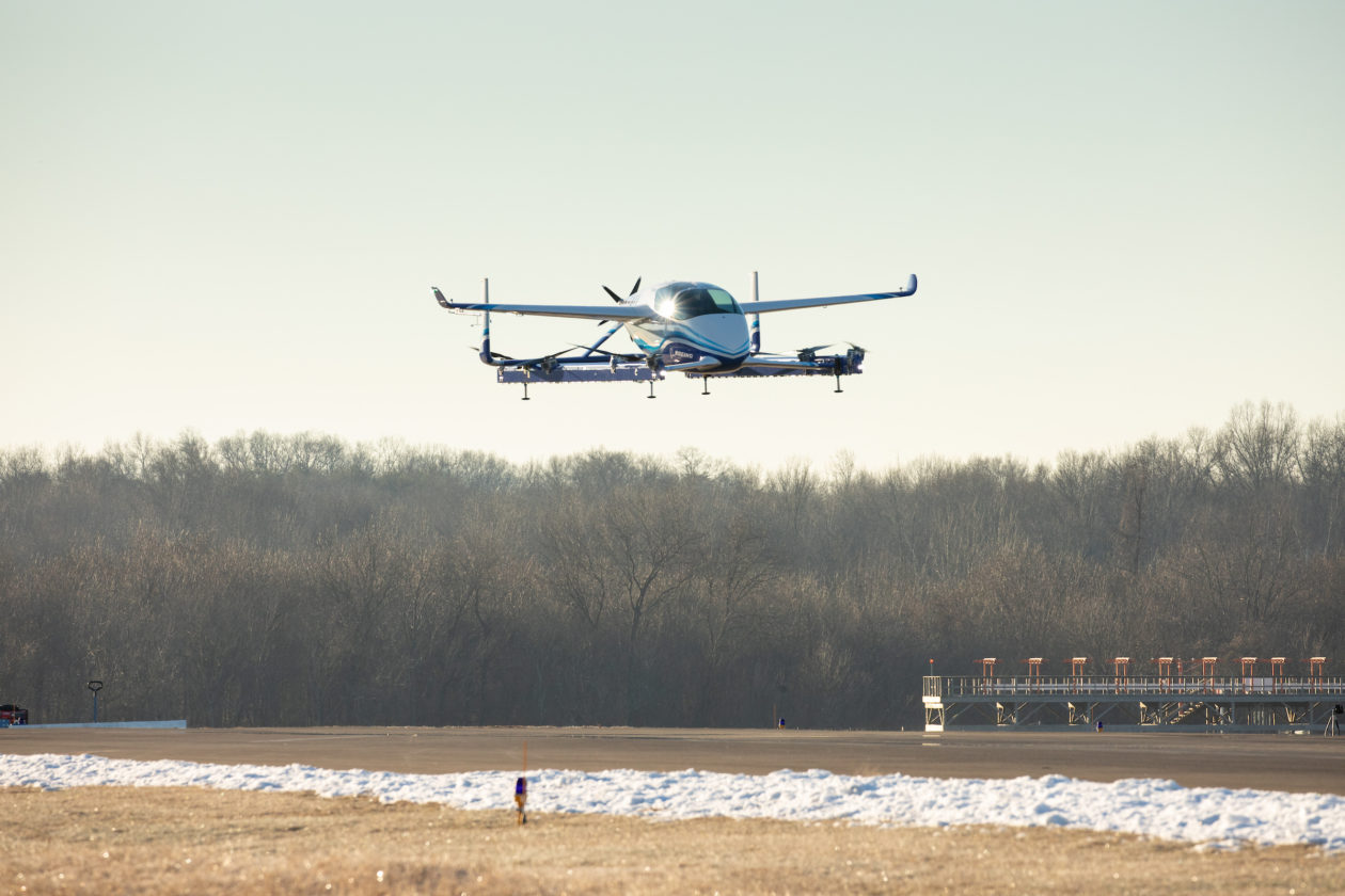 Boeing S Passenger Air Vehicle Rises Into The Air For
