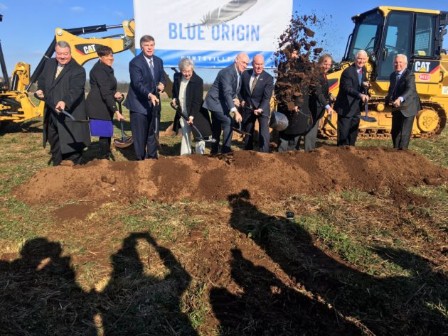 Blue Origin groundbreaking ceremony