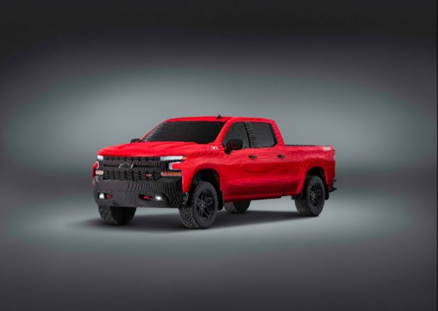 Lego and Chevy Debut Life-Size Silverado Pickup Made from 334,000 Bricks