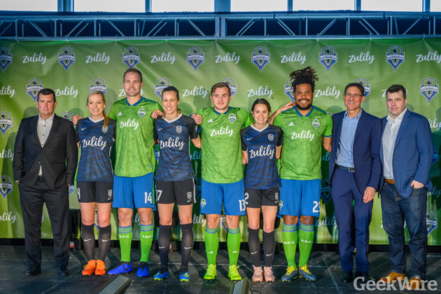 finest selection ec9e6 9fd37 Seattle Sounders and Reign FC unveil new jersey sponsor ...