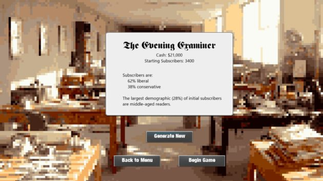 Game preview: Create your own '90s newspaper in editor-in-chief simulator 'Above the Fold'