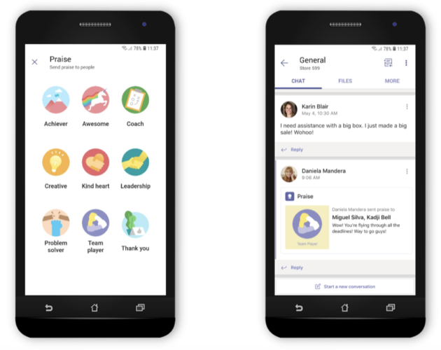 New features for Microsoft Teams chat app further company's