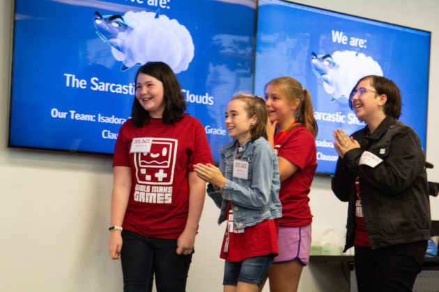 Four Seattle girls score top prize in national Girls Make Games competition with game about bullying