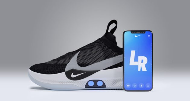 d35e9689b30e0 Nike unveils new self-lacing basketball shoes controlled by a ...