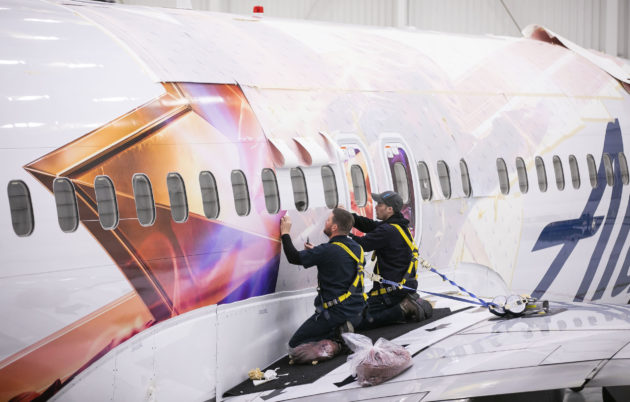 Alaska Airlines 'Captain Marvel'