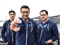 XNOR engineers and CEO with chip