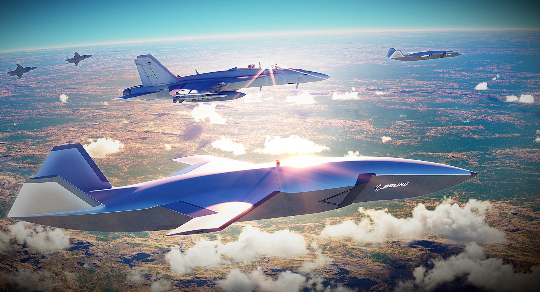 d7363e57cb05 Boeing Co. (BA) Unveiled Unmanned Fighter-Like Jet