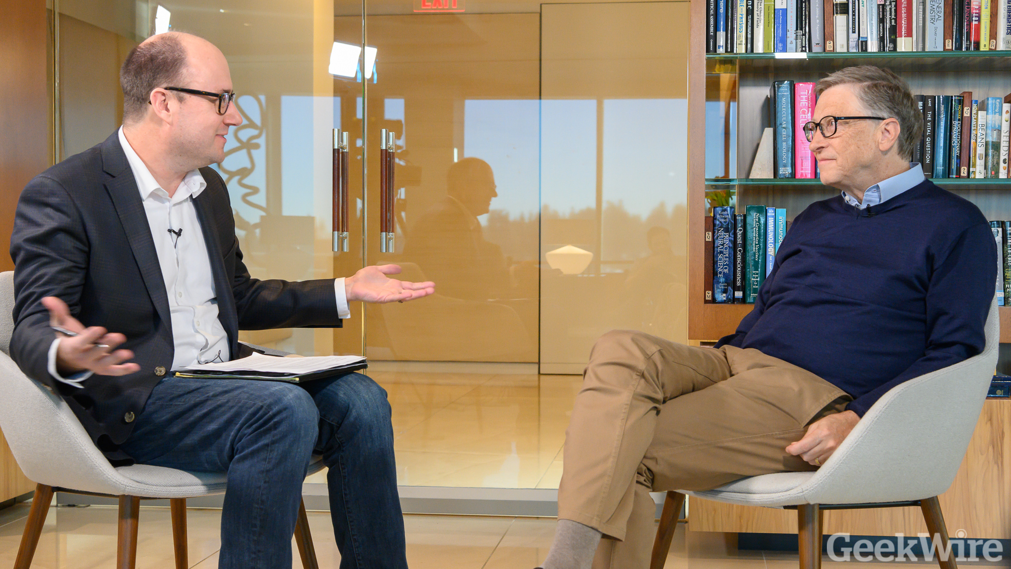Full interview: Bill Gates on climate change, Paul Allen, nationalism and,  of course, hamburgers - GeekWire