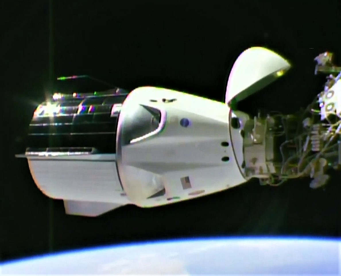 Spacex S Crew Dragon Spaceship Links Up With Space Station