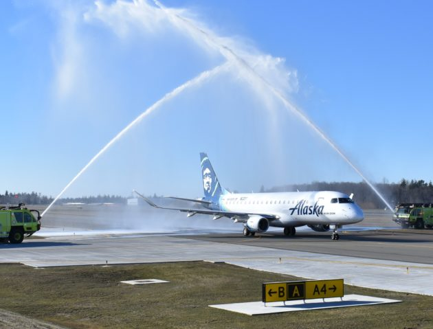 Water arch at Paine Field