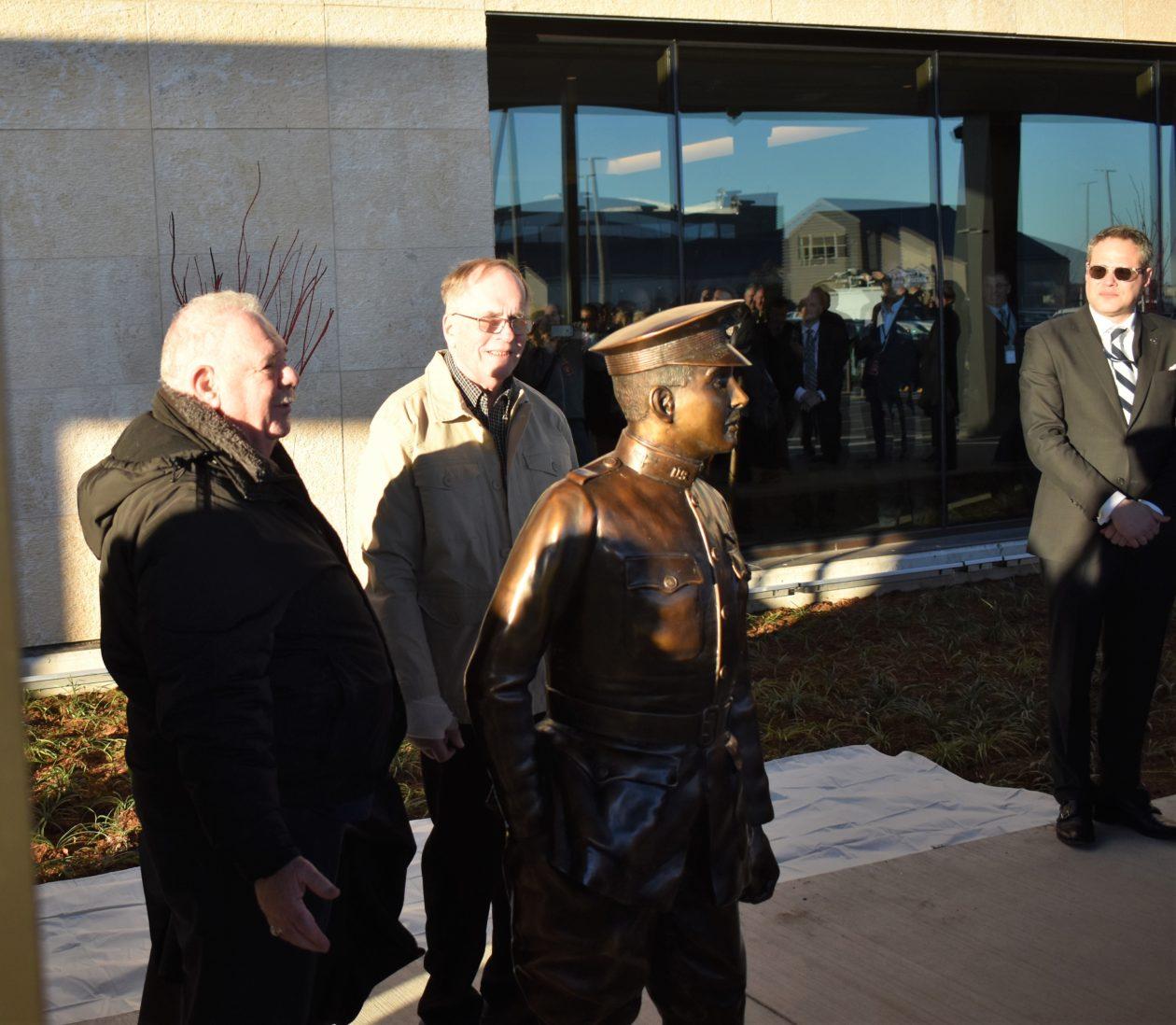 Paine statue dedication