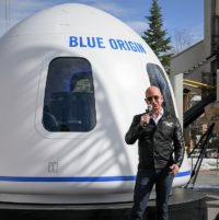 Jeff Bezos and Blue Origin New Shepard crew capsule