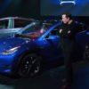 Elon Musk with Model Y