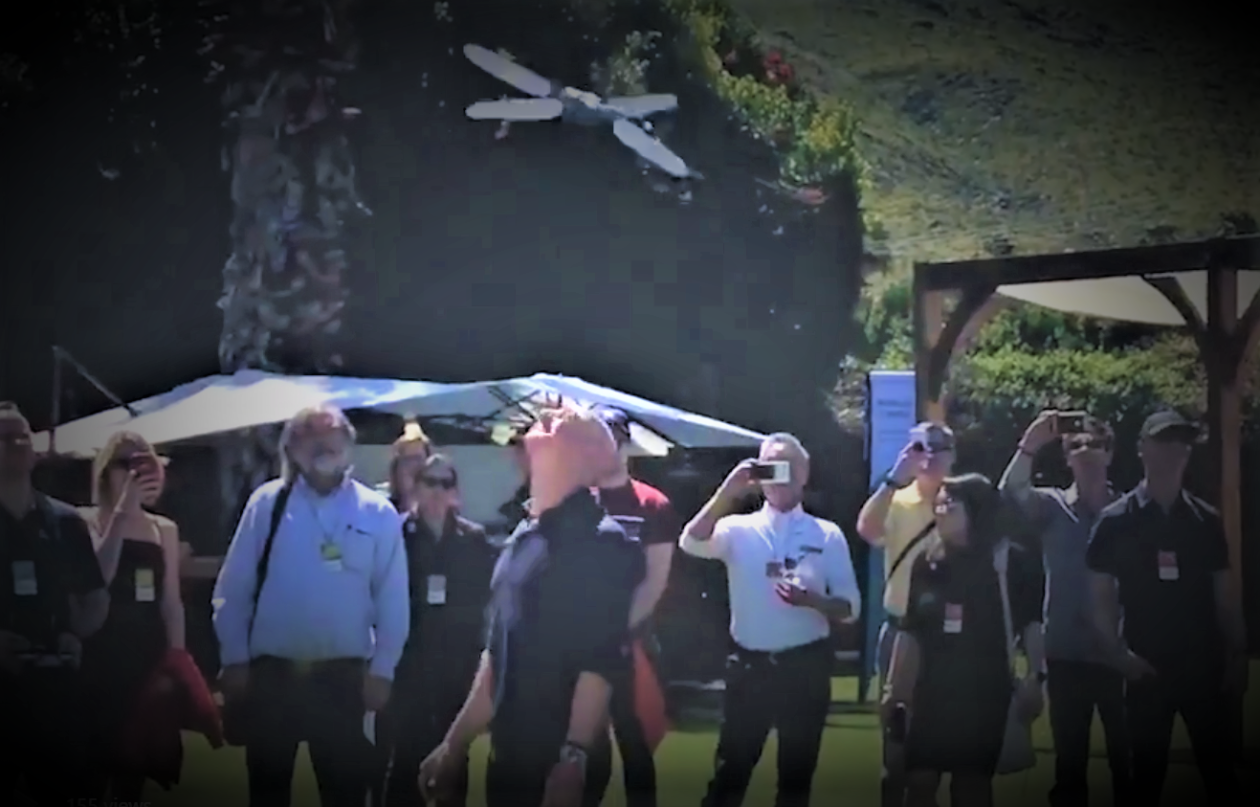 Jeff Bezos gets buzzed by robot dragonfly at Amazon's mysterious MARS conference