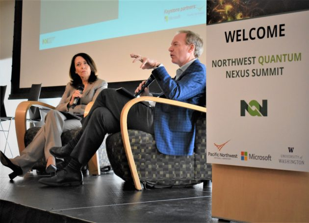 Sen. Maria Cantwell and MIcrosoft President Brad Smith