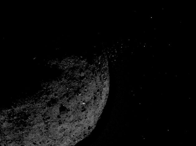 Surprise! NASA's OSIRIS-REx probe catches asteroid spewing bits into space