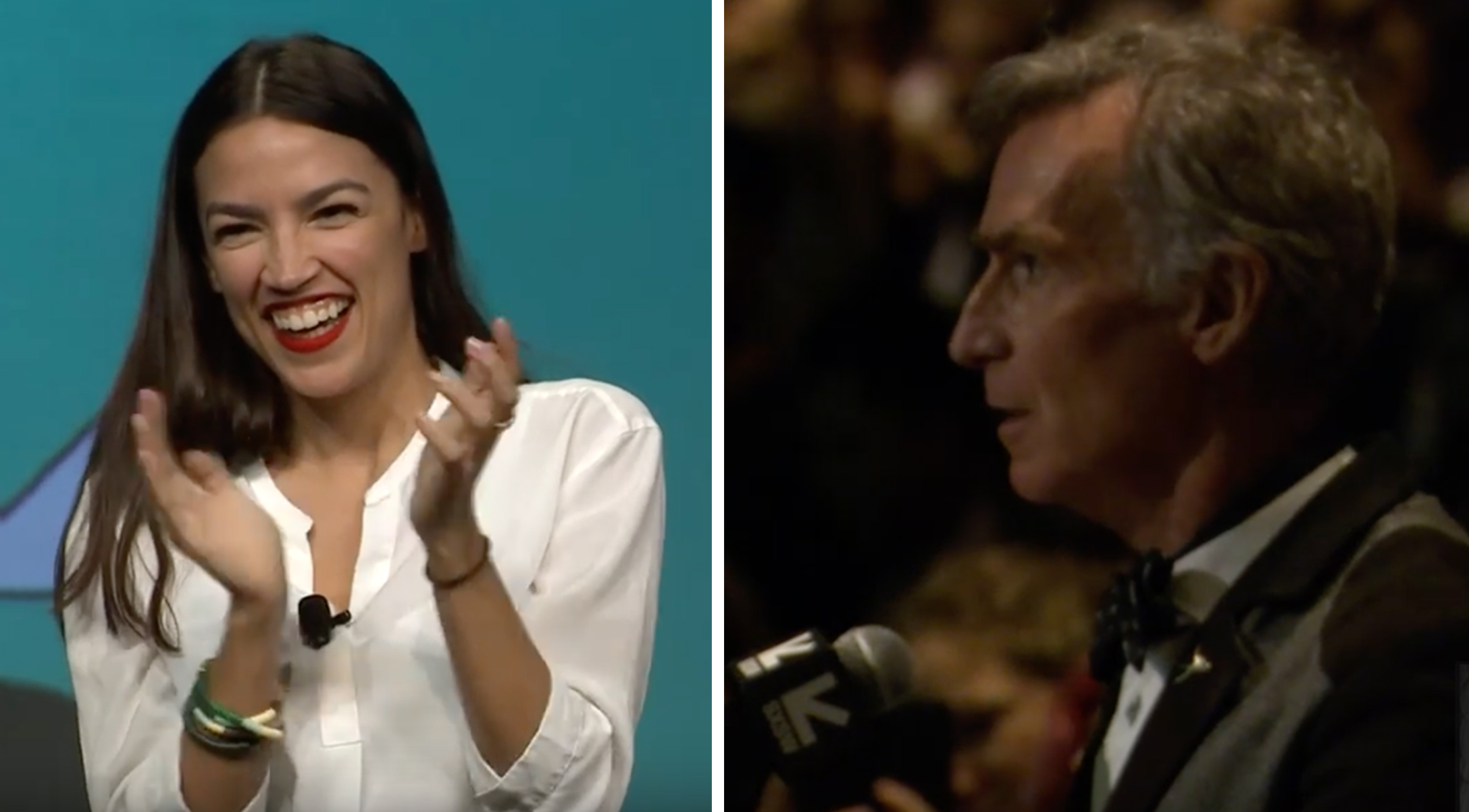 Bill Nye surprises AOC at SXSW, asks about overcoming fear