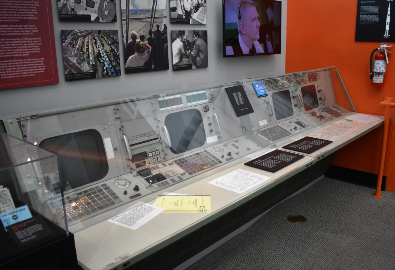 Mission Control consoles