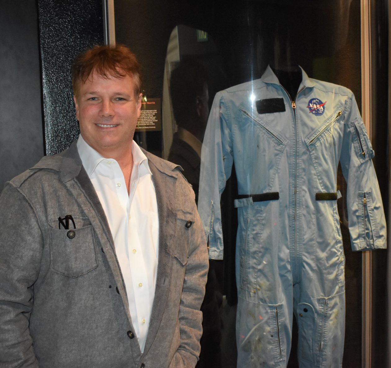 Mark Armstrong with flight suit