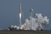 Antares launch with Cygnus cargo ship